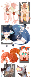 OPEN (2\9) There's More Adopts by Sketchymess