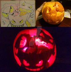 Pokemon Pumpkin: Ghost Trio by thecatKShiki