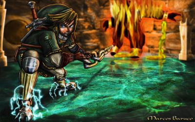 Link vs Fyrus by marcosbaruco
