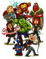 Family Guy Avengers Age of Ultron by KwongBee-Arts