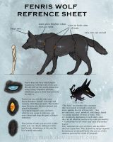 Fenris Wolf Reference Sheet by CupcakeCarnageGirl