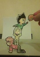 Zeo,Toby and Masamune Paperchild by IperGiratina98