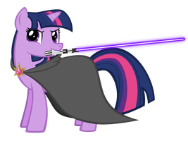 Twilight Sparkle - With Lightsaber by WoWFluttershy