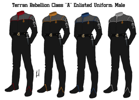 Terran Rebellion Enlisted Crew Class A Uniform by docwinter