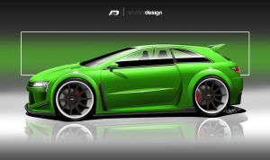 green hatchback concept by ARTriviant