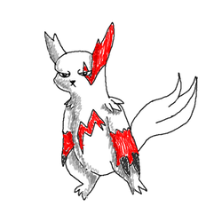 Half-Assed Zangoose Doodle by Xiria