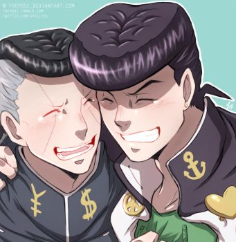 JJBA - Josuke and Okuyasu by 7Repose