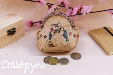 Hungry Cat coin purse by ChibiPyro