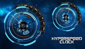 Hyperspeed Clock for xwidget by Jimking