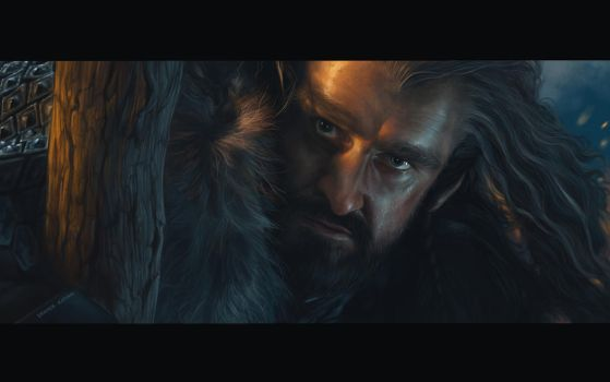 Thorin Oakenshield - Painting by DennyKotian