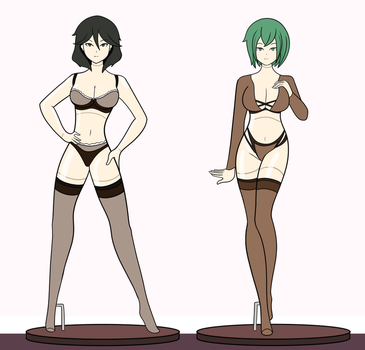 $ Chifuyu and Maya Mannequins by DB-Palette