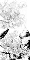 INVINCIBLE 92 cover pencil to ink by RyanOttley