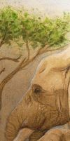 Bookmark 11 - (front) - Elephants by The-Purring-Teapot