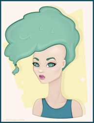 Fro-Hawk Chick by BlissInMyCoffee