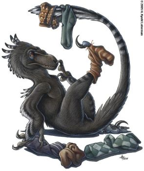 Deinonychus and Socks by kyoht
