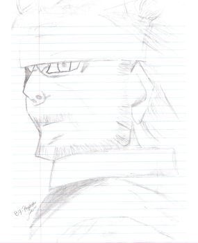 MGS3 - Naked Snake Sketch by MariovsSonic2008