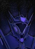 Starry Soundwave scribble by M-hourglass