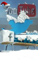 Social media Winter 3D models by Swpp