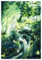 Life Flow by SALTWatercolors