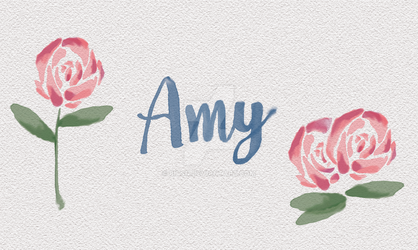Amy Watercolor (My name) by BitsN
