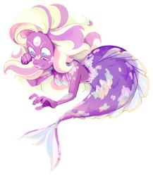 Rainbow Quartz Chibi Mermaid! by weirdlyprecious