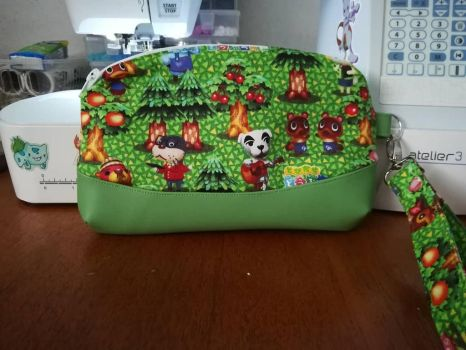 Clutch Bag Made With Animal Crossing Fabric by SockJems