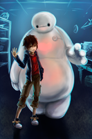 [Big Hero 6] Hiro and Baymax. by ProtoRC