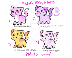 pastel kitty adopt CLOSED by catshlt