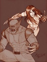 Wolverine and X-23 by tryvor