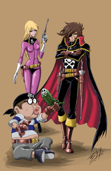 Captain Harlock Commission Color Final by brianb3x