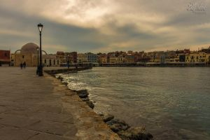 Autumn in the old Venetian port of Chania I by BillyNikoll
