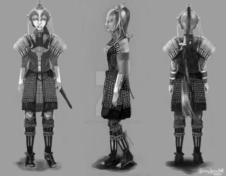 Mulan black and white character development (view) by anna-elizabeth
