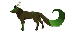 Nature Wolf Adopt (CLOSED) by DinoGirl500