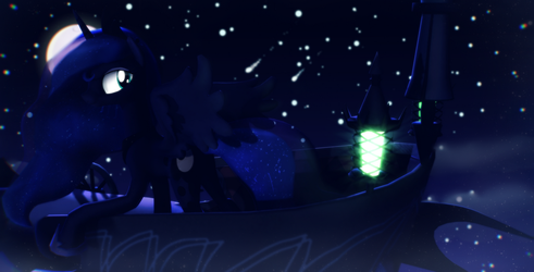 [MMD] Night journey by Sparkiss-Pony