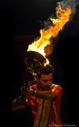 Fire Ceremony by the Ganges by AflamePhotography