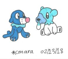Popplio and Cubchoo