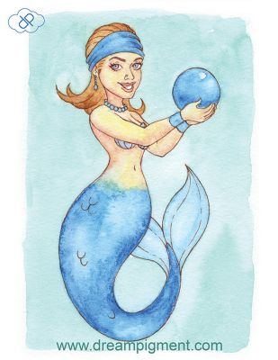 Sapphire Mermaid - MerMonday September 17th 2018 by DreamPigment