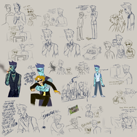 Turquoise Doodles by UncreativeName15