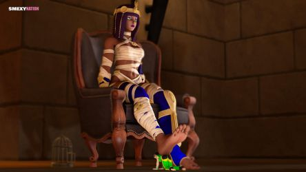 Menat's Footrest by Smexy-Nation