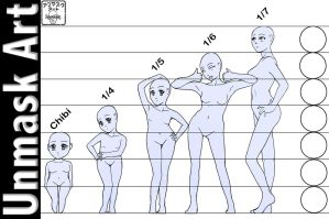 Anime Proportion Chart + Tutorial by UnmaskArt