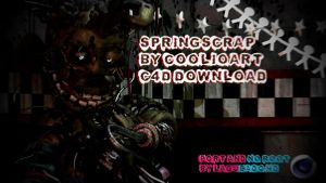(Cinema4D-FNaF3) Springscrap By CoolioArt C4D DL by LagueadoHDYT