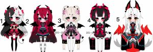 kemonomimi  kimono  girls adoptables CLOSED by AS-Adoptables