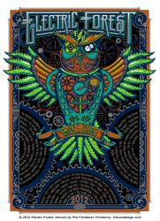 Electric Forest Poster by fensterer