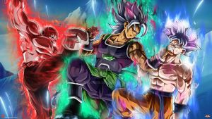 Mysterious Saiyan VS Goku and Jiren by Maniaxoi