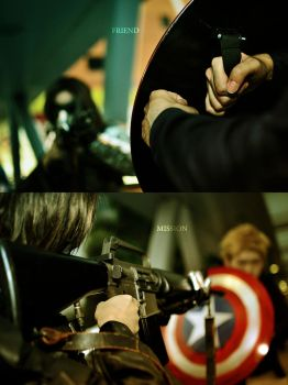 Winter soldier and Cap by AbsoluteZero666