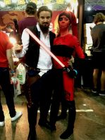 Hairy Han and Darth Talon by JUMBOLA