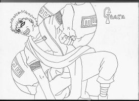 Gaara of the sand sketch by l3xxybaby