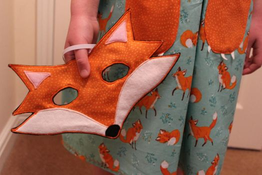 Design Team Fox project - mask by StitchItMama