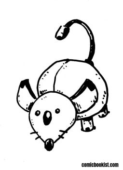 Inktober Day Twenty Eight - MouseBot by Comicbookist