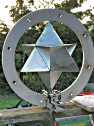 Star Tetrahedron Wind Spinner by ou8nrtist2